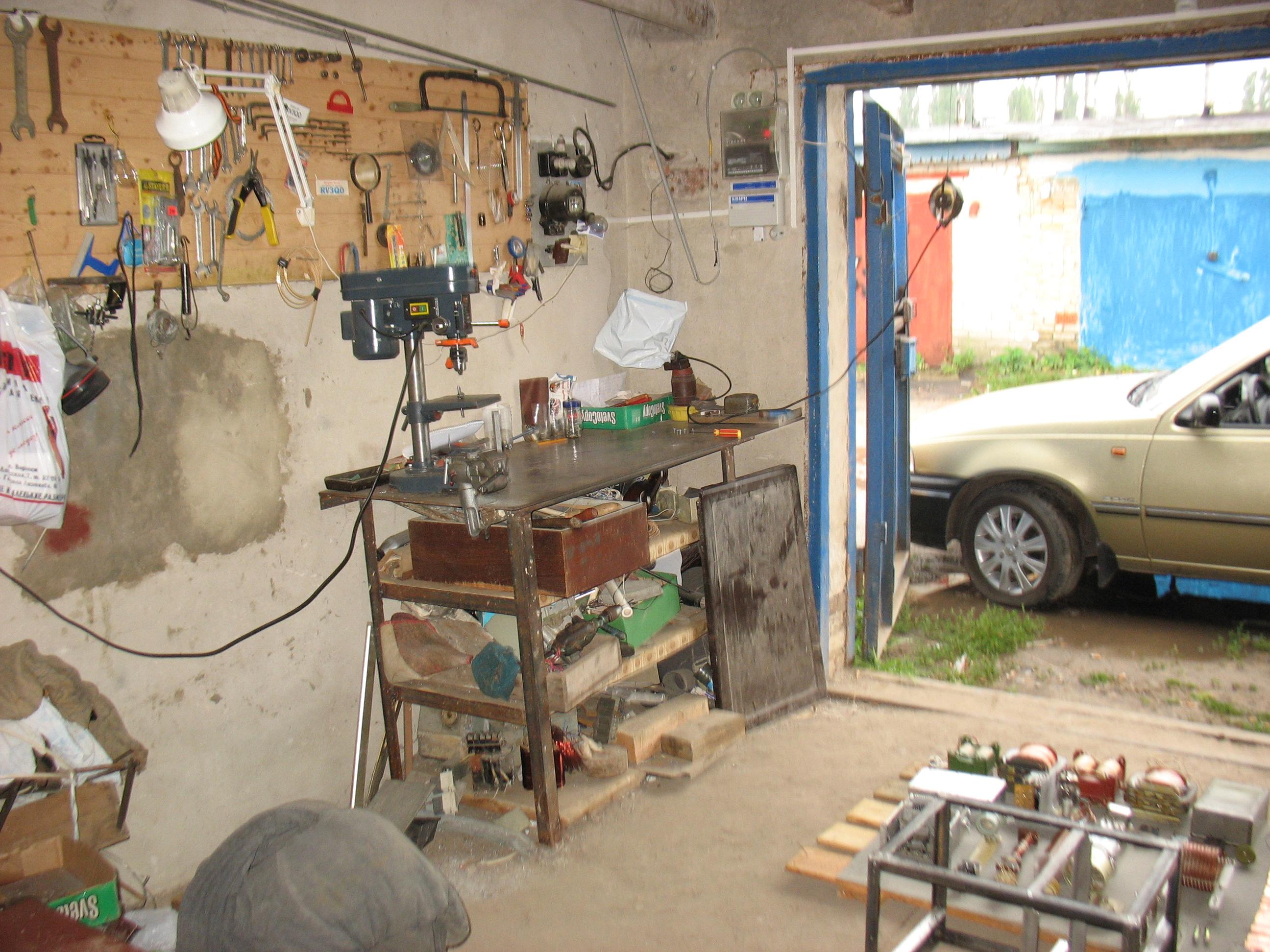 Обстановка в гараже фото