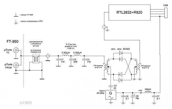 Нажмите на изображение для увеличения.  Название:RTL2832+Converter_FT-950_ok.JPG Просмотров:7554 Размер:83.6 Кб ID:105959
