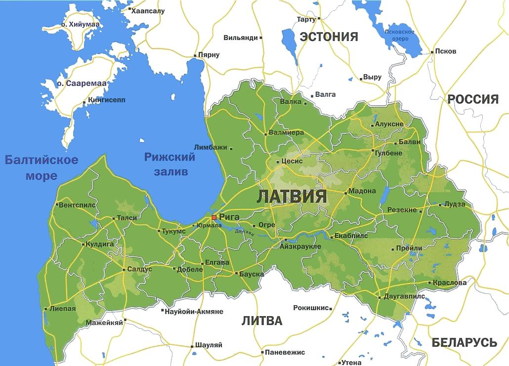 Нажмите на изображение для увеличения.  Название:Latvia-map.jpg Просмотров:1590 Размер:111.6 Кб ID:111829
