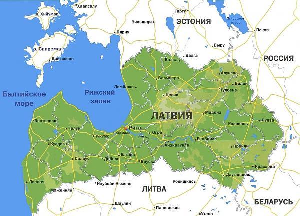 Нажмите на изображение для увеличения.  Название:Latvia-map.jpg Просмотров:1700 Размер:111.6 Кб ID:111829