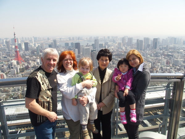 Название: Japan_2014_Roman_UT7UA_XYL_son_Noriko_7K3EOP_daughter_granddaughter.jpg