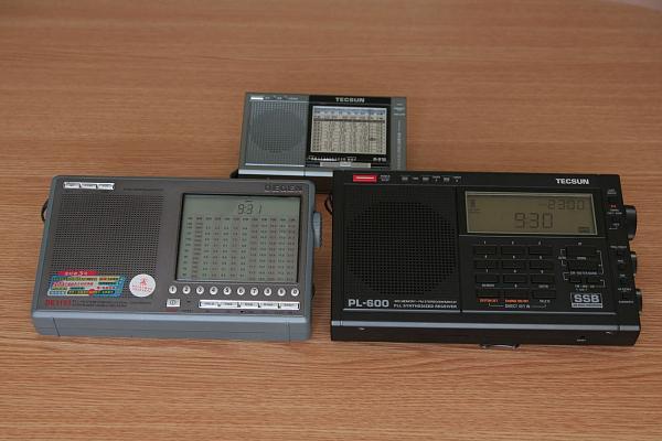 КВ-радиоприёмники. Фотографии для сравнения размеров