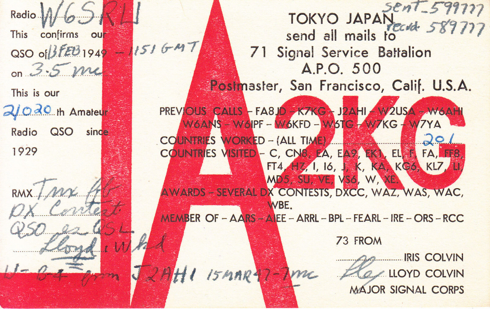 Нажмите на изображение для увеличения.  Название:9) ja2kg lloyd colvin 1947.jpg Просмотров:41 Размер:470.6 Кб ID:169984