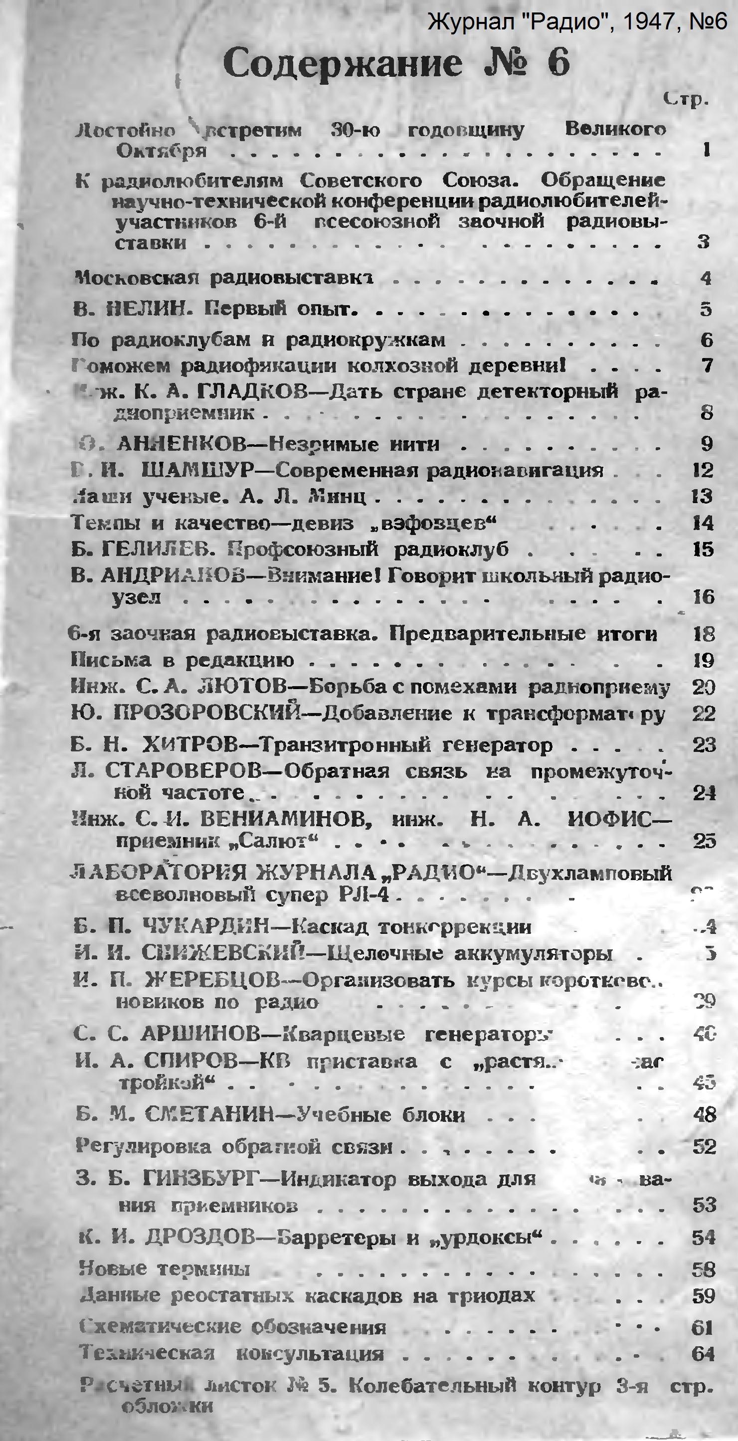 Нажмите на изображение для увеличения.  Название:Оглавление_Радио_1947-06_konstantin.in.jpg Просмотров:8 Размер:1.16 Мб ID:208751