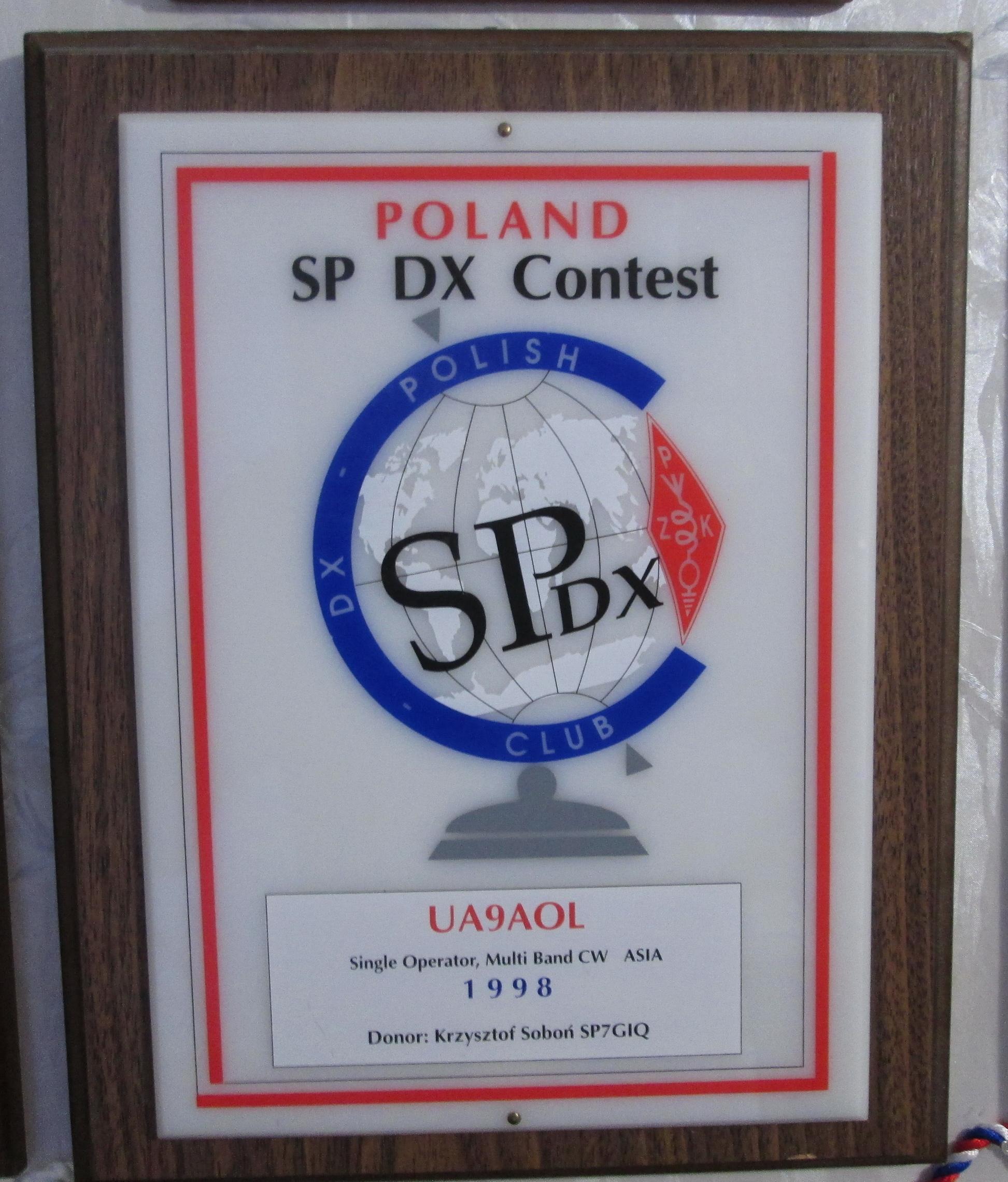 Нажмите на изображение для увеличения.  Название:Плакета_SP DX Contest 1998 г.jpg Просмотров:16 Размер:1.26 Мб ID:208973