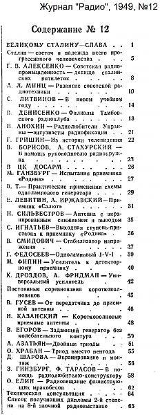 Нажмите на изображение для увеличения.  Название:Оглавление_Радио_1949-12_konstantin.in.jpg Просмотров:7 Размер:721.7 Кб ID:211815