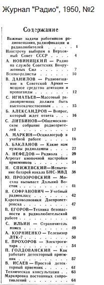 Название: Zhurnal-Radio-1950-02-Oglavlenie.jpg Просмотров: 475  Размер: 57.7 Кб
