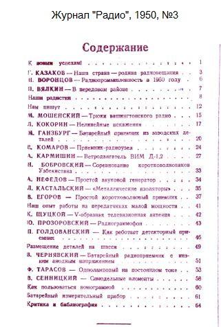 Название: Zhurnal-Radio-1950-03-Oglavlenie.jpg Просмотров: 411  Размер: 65.4 Кб