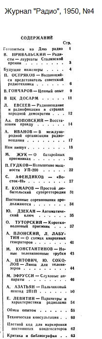 Нажмите на изображение для увеличения.  Название:Zhurnal-Radio-1950-04-Oglavlenie.jpg Просмотров:8 Размер:65.0 Кб ID:213865