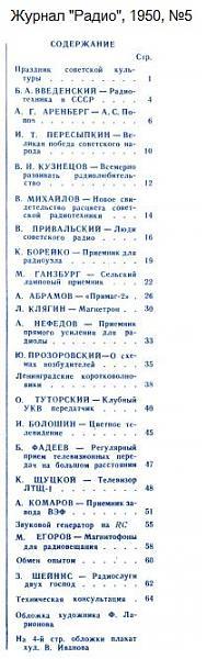 Нажмите на изображение для увеличения.  Название:Zhurnal-Radio-1950-05-Oglavlenie.jpg Просмотров:10 Размер:60.5 Кб ID:215070