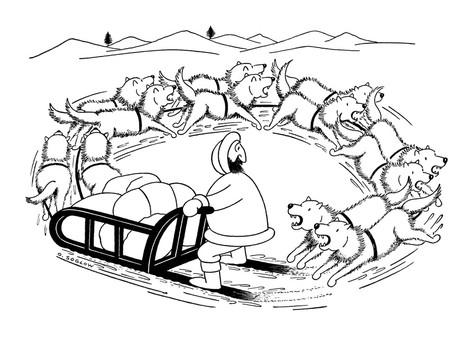 Название: Собаки_otto-soglow-eskimo-on-dog-sled-the-dogs-are-running-around-in-a-circle-and-are-comi.jpg Просмотров: 386  Размер: 30.7 Кб