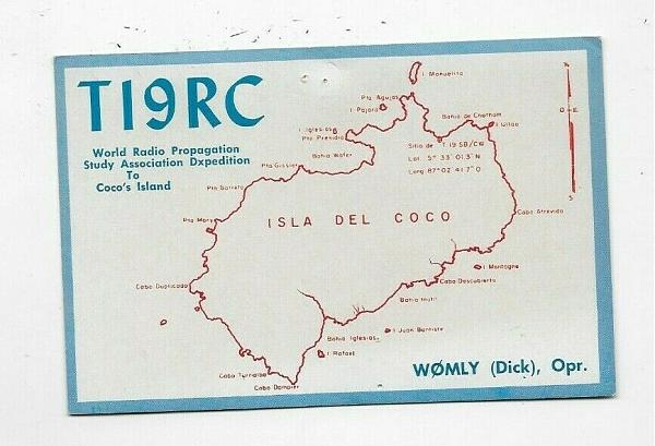 Нажмите на изображение для увеличения.  Название:1963 QSL Card Ham Radio TI9RC Isla Del Coco Costa Rica Dxpedition.JPG Просмотров:10 Размер:76.6 Кб ID:254085