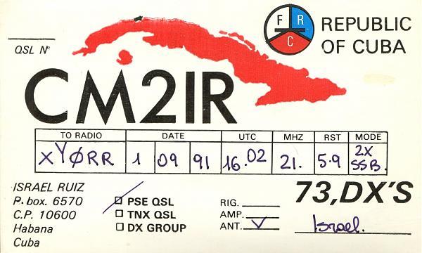Нажмите на изображение для увеличения.  Название:CM2IR-QSL-XY0RR-1991.jpg Просмотров:6 Размер:1.20 Мб ID:254087