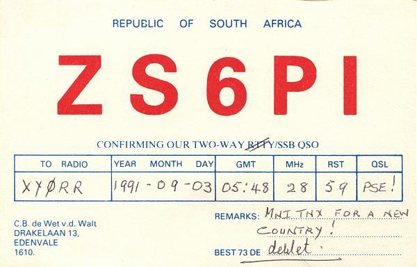 Нажмите на изображение для увеличения.  Название:ZS6PI-QSL-XY0RR-1991.jpg Просмотров:4 Размер:1.56 Мб ID:254128