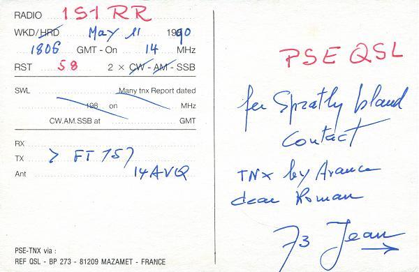 Нажмите на изображение для увеличения.  Название:FR5ZN-QSL-1S1RR-1990-2.jpg Просмотров:0 Размер:1.07 Мб ID:255085