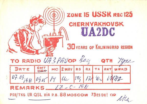 Нажмите на изображение для увеличения.  Название:UA2DC-UA3PAU-1981-qsl.jpg Просмотров:2 Размер:1.15 Мб ID:259879