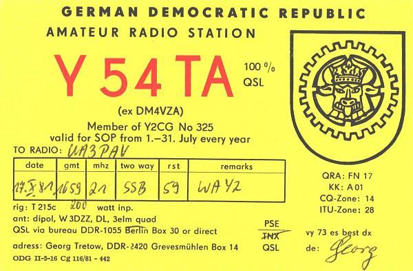 Нажмите на изображение для увеличения.  Название:Y54TA-UA3PAV-1981-qsl.jpg Просмотров:2 Размер:1.14 Мб ID:260021