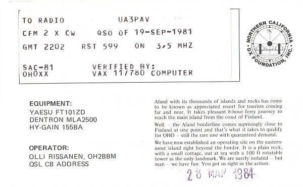 Нажмите на изображение для увеличения.  Название:OH0XX-UA3PAV-1981-qsl-2s.jpg Просмотров:2 Размер:863.0 Кб ID:260148