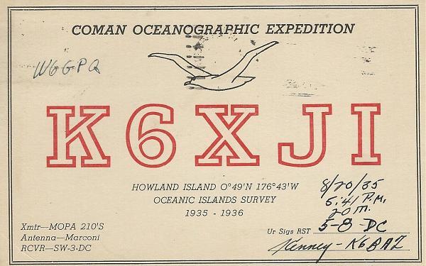 Нажмите на изображение для увеличения.  Название:K6XJI-1935 howland island coman expedition.jpg Просмотров:3 Размер:1.06 Мб ID:262331