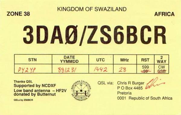 Нажмите на изображение для увеличения.  Название:3DA0-ZS6BCR-QSL-PY2YP-1988.jpg Просмотров:4 Размер:38.5 Кб ID:265453