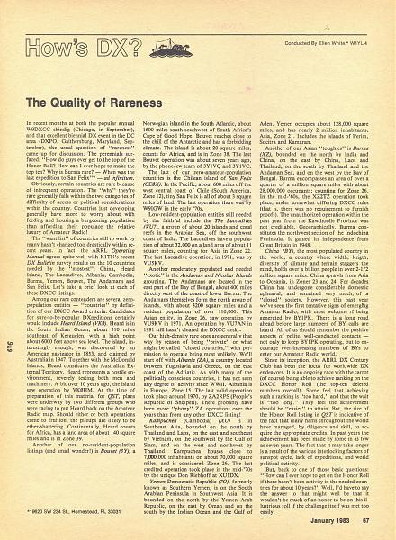 Нажмите на изображение для увеличения.  Название:QST Jan.1983. The Quality of  Rareness, p.67.jpg Просмотров:14 Размер:1.95 Мб ID:265600