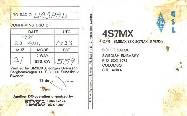 Нажмите на изображение для увеличения.  Название:4S7MX-UA3PAU-1981-qsl-2s.jpg Просмотров:2 Размер:343.9 Кб ID:267150