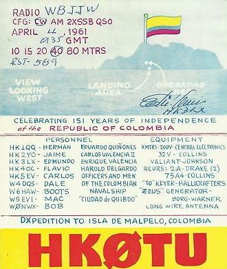 Название: HK0TU-1961-QSL-1.jpg Просмотров: 506  Размер: 159.4 Кб