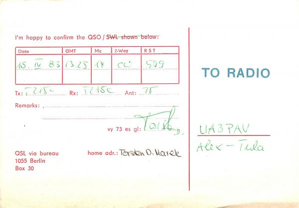 Нажмите на изображение для увеличения.  Название:Y69VG-UA3PAV-1983-qsl-2s.jpg Просмотров:2 Размер:763.3 Кб ID:280185