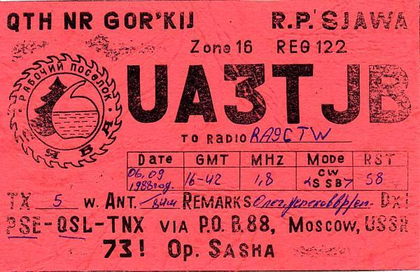 Нажмите на изображение для увеличения.  Название:UA3TJB QSL RA9CTW 1988.jpg Просмотров:2 Размер:110.8 Кб ID:282967
