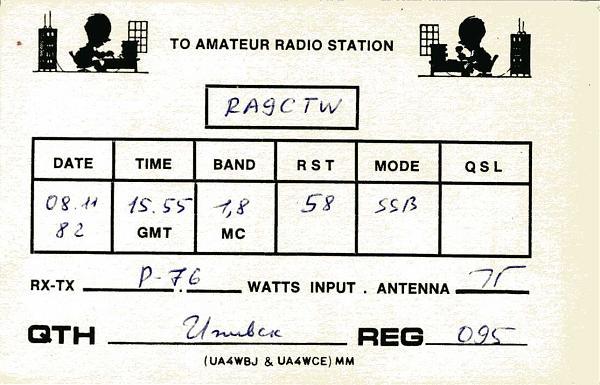 Нажмите на изображение для увеличения.  Название:UA4WCA QSL RA9CTW 1982_.jpg Просмотров:2 Размер:219.5 Кб ID:283103