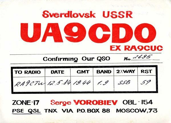 Нажмите на изображение для увеличения.  Название:UA9CDO QSL RA9CTW 1984.jpg Просмотров:2 Размер:202.5 Кб ID:283355