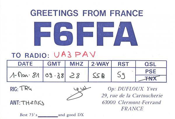Нажмите на изображение для увеличения.  Название:F6FFA-UA3PAV-1981-qsl.jpg Просмотров:3 Размер:336.4 Кб ID:284691