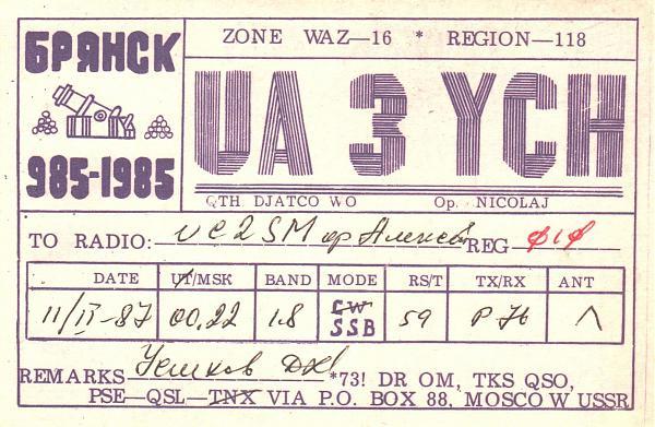 Нажмите на изображение для увеличения.  Название:UA3YCH-UC2SM-1987-qsl.jpg Просмотров:2 Размер:529.9 Кб ID:284800