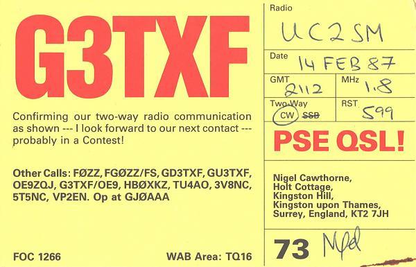Нажмите на изображение для увеличения.  Название:G3TXF-UC2SM-1987-qsl.jpg Просмотров:2 Размер:382.3 Кб ID:284813
