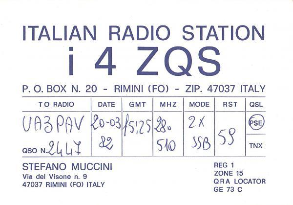 Нажмите на изображение для увеличения.  Название:I4ZQS-UA3PAV-1982-qsl.jpg Просмотров:2 Размер:310.3 Кб ID:285552