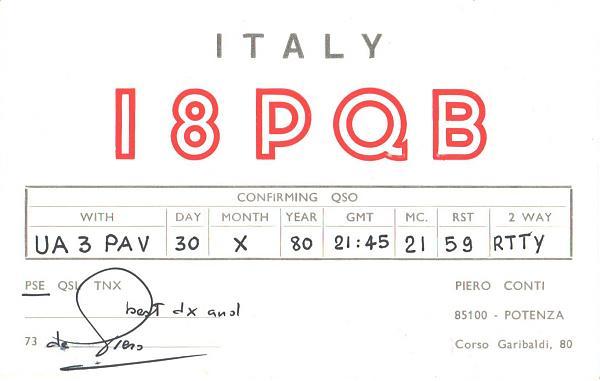 Нажмите на изображение для увеличения.  Название:I8PQB-UA3PAV-1980-qsl.jpg Просмотров:2 Размер:229.0 Кб ID:285554