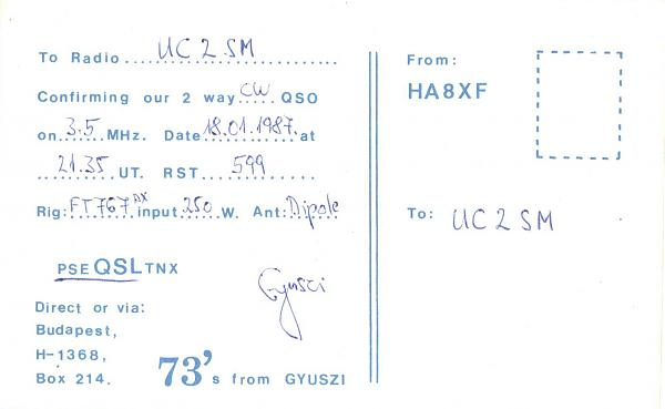 Нажмите на изображение для увеличения.  Название:HA8XF-UC2SM-1987-qsl-2s.jpg Просмотров:2 Размер:197.0 Кб ID:285796