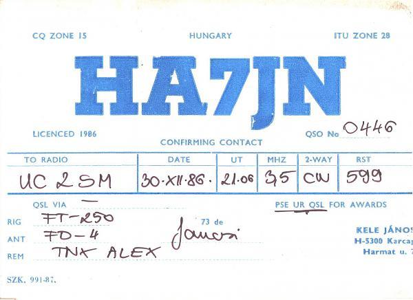 Нажмите на изображение для увеличения.  Название:HA7JN-UC2SM-1986-qsl.jpg Просмотров:2 Размер:373.4 Кб ID:285799