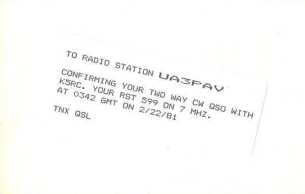 Нажмите на изображение для увеличения.  Название:K5RC-UA3PAV-1981-qsl-2s.jpg Просмотров:2 Размер:134.9 Кб ID:286099