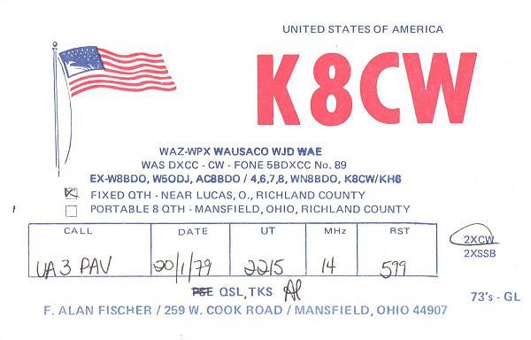Нажмите на изображение для увеличения.  Название:K8CW-UA3PAV-1979-qsl.jpg Просмотров:2 Размер:302.6 Кб ID:286102