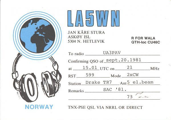 Нажмите на изображение для увеличения.  Название:LA5WN-UA3PAV-1981-qsl.jpg Просмотров:2 Размер:377.2 Кб ID:286325