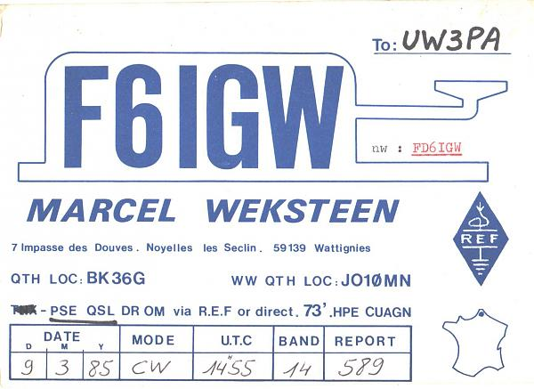 Нажмите на изображение для увеличения.  Название:F6IGW-UW3PA-1985-qsl.jpg Просмотров:2 Размер:386.2 Кб ID:286733