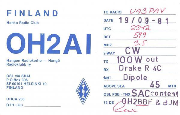 Нажмите на изображение для увеличения.  Название:OH2AI-UA3PAV-1981-qsl.jpg Просмотров:2 Размер:484.6 Кб ID:286792
