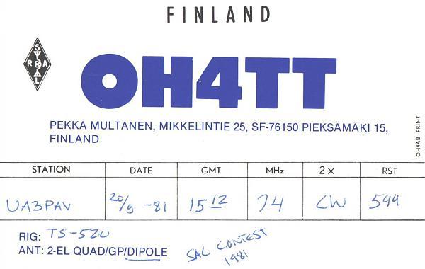 Нажмите на изображение для увеличения.  Название:OH4TT-UA3PAV-1981-qsl.jpg Просмотров:2 Размер:567.2 Кб ID:286844