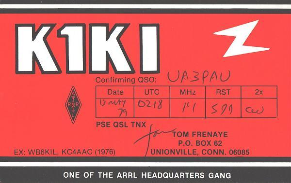 Нажмите на изображение для увеличения.  Название:K1KI-UA3PAU-1979-qsl.jpg Просмотров:2 Размер:334.4 Кб ID:286903