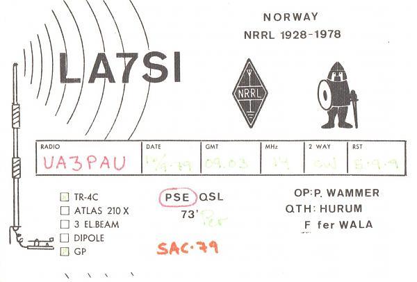 Нажмите на изображение для увеличения.  Название:LA7SI-UA3PAU-1979-qsl.jpg Просмотров:2 Размер:245.3 Кб ID:287366