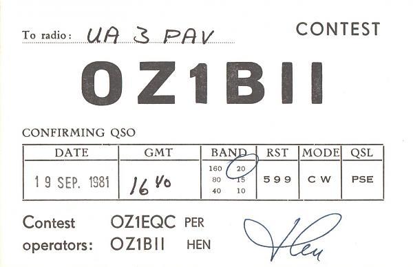 Нажмите на изображение для увеличения.  Название:OZ1BII-UA3PAV-1981-qsl.jpg Просмотров:2 Размер:390.0 Кб ID:287386