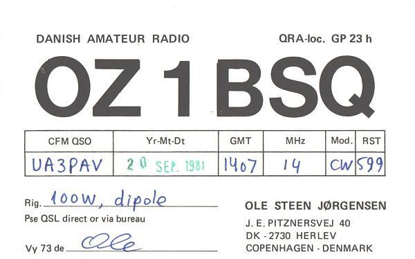 Нажмите на изображение для увеличения.  Название:OZ1BSQ-UA3PAV-1981-qsl.jpg Просмотров:2 Размер:393.4 Кб ID:287387