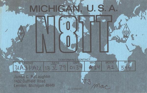 Нажмите на изображение для увеличения.  Название:N8TT-UA3PAU-1979-qsl.jpg Просмотров:2 Размер:614.2 Кб ID:287477