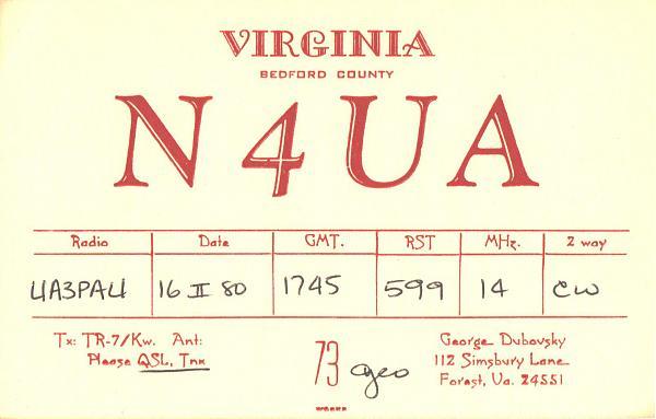 Нажмите на изображение для увеличения.  Название:N4UA-UA3PAU-1980-qsl.jpg Просмотров:2 Размер:285.4 Кб ID:287513